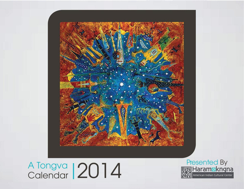 Tongva Calendar for 2014!